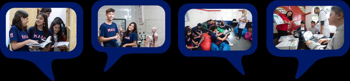 Ensino Fundamental 2 e Ensino Médio no Colégio Maia