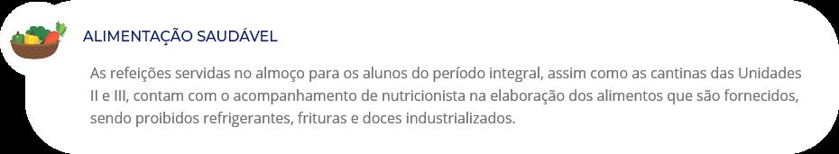 Alimentação saudável no Colégio Maia